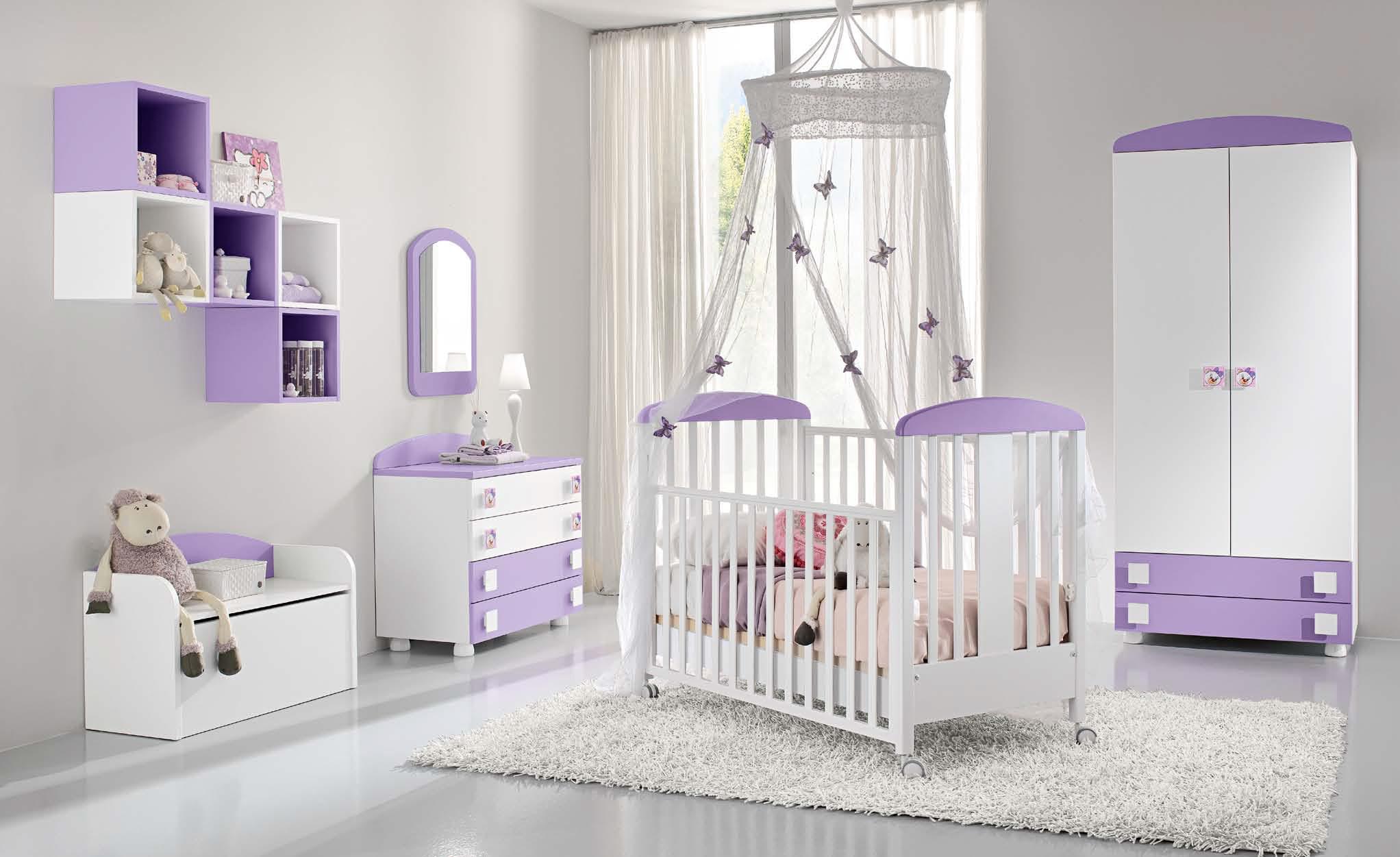 Culle e fasciatoi per la cameretta del vostro bambino for Tende lilla glicine