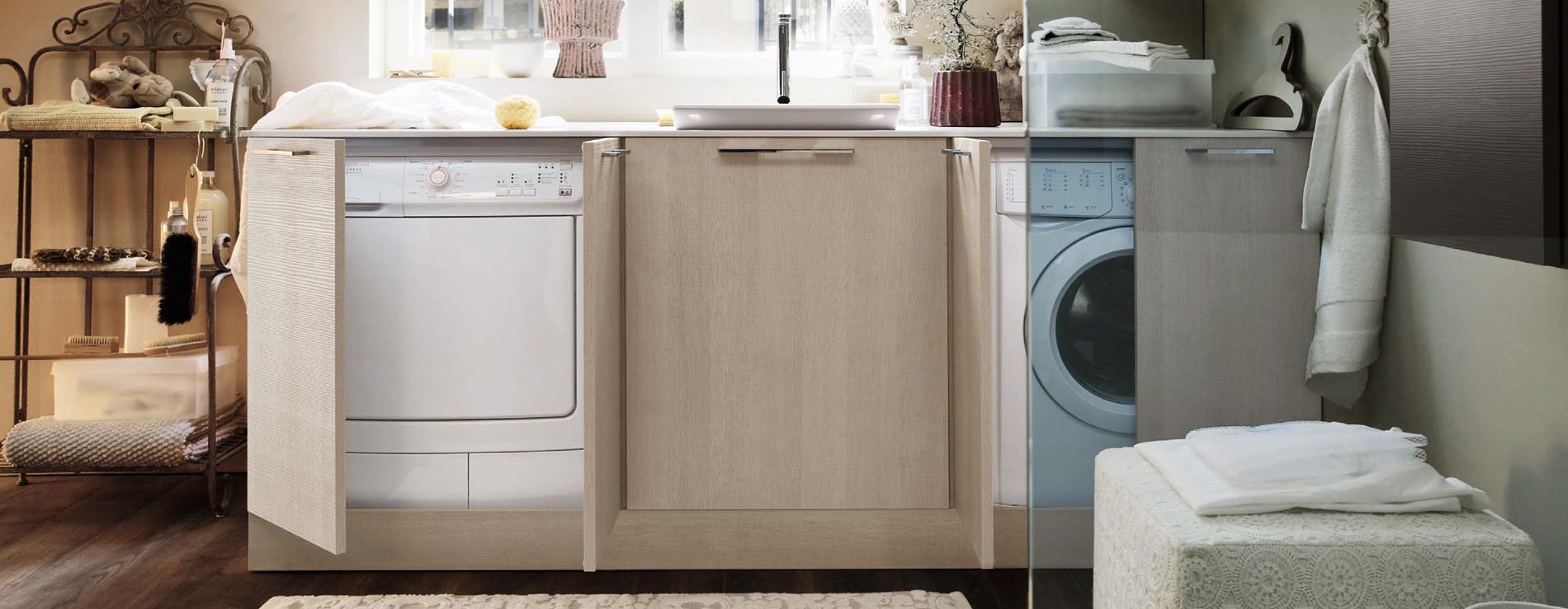 Mobili bianchi per lavanderia design casa creativa e - Arredo per lavanderia di casa ...