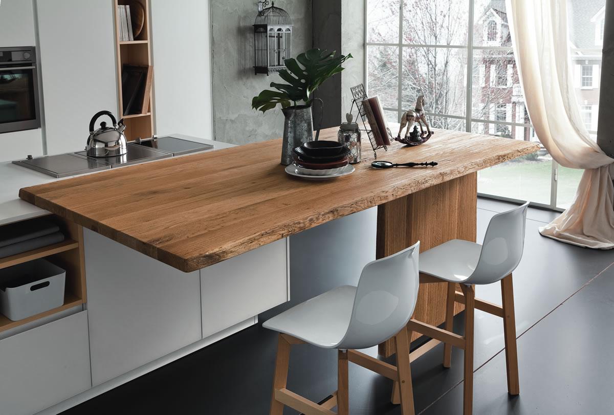 Tavoli e sedie sala da pranzo centro mobili godiasco salice terme - Tavolo legno grezzo ikea ...