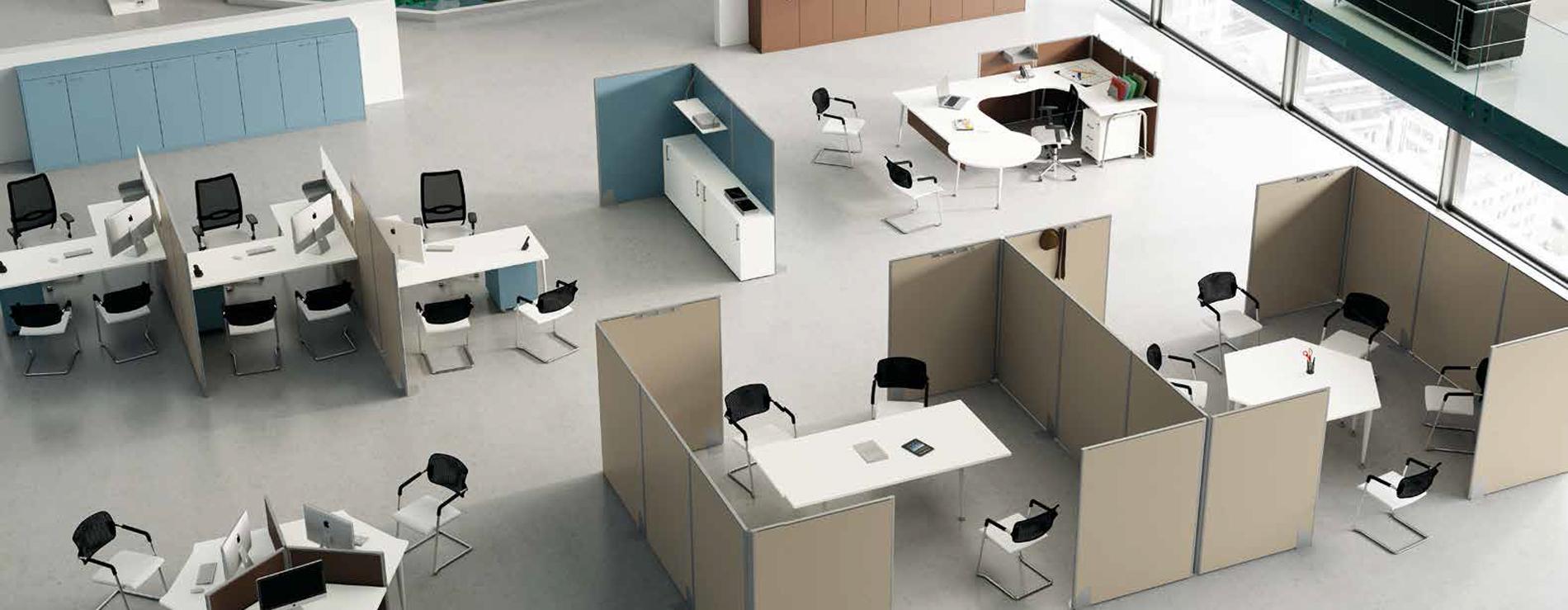 Sistemi divisori per uffici centro mobili for Divisori mobili per ufficio
