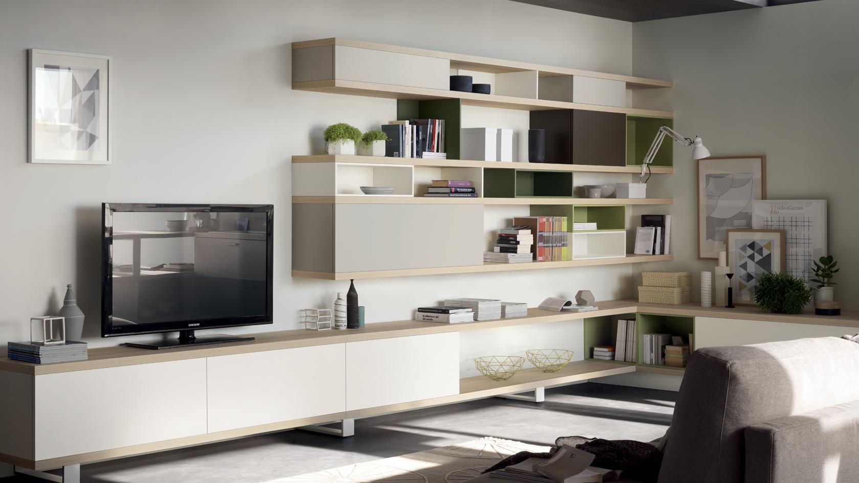 Foodshelf la soluzione open space di scavolini centro - Mobili living scavolini ...