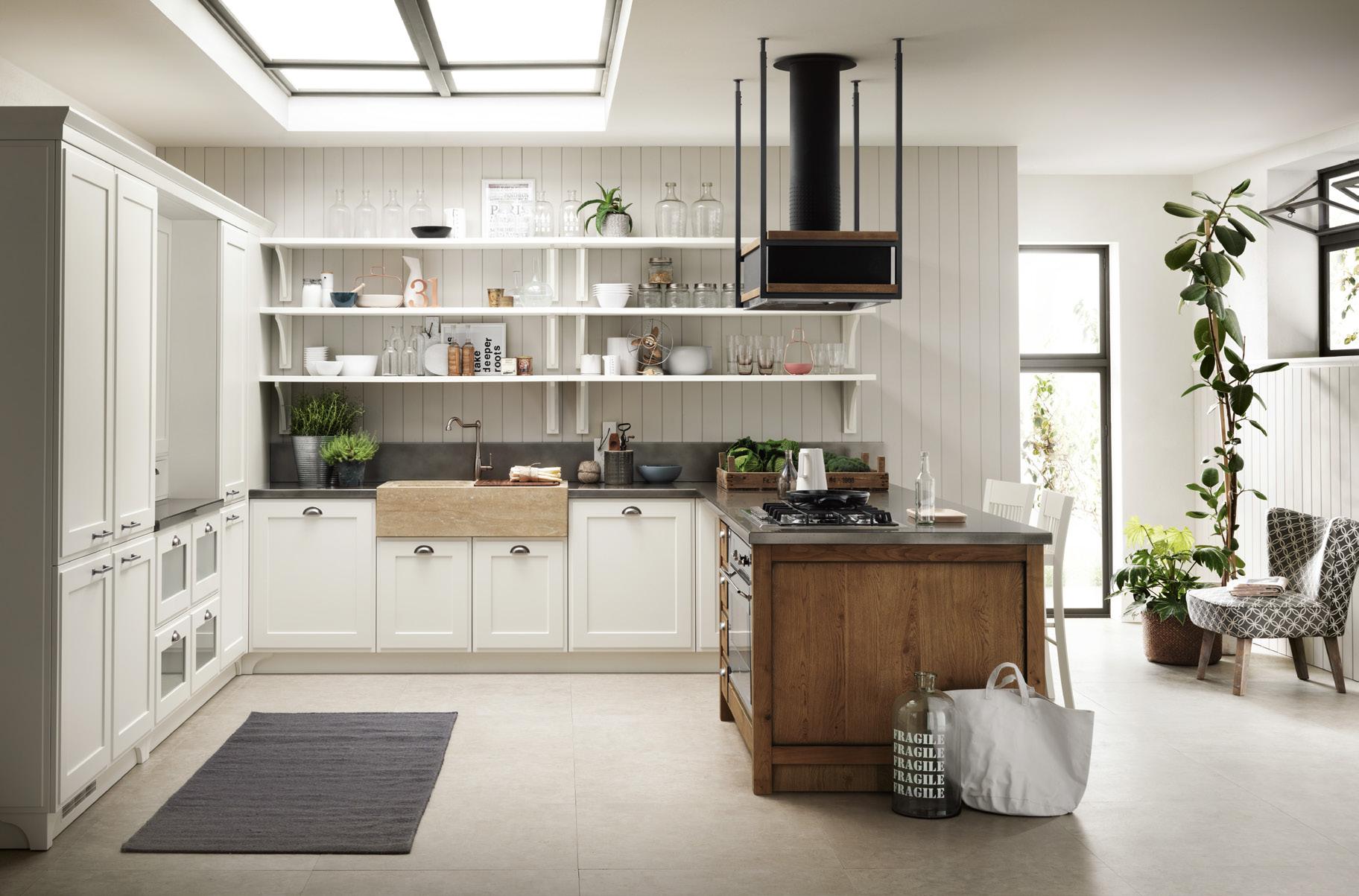 Forma In Un Progetto Raffinato La Cucina Favilla Di Scavolini #4E5C30 1824 1203 Immagini Cucine Moderne Con Isola