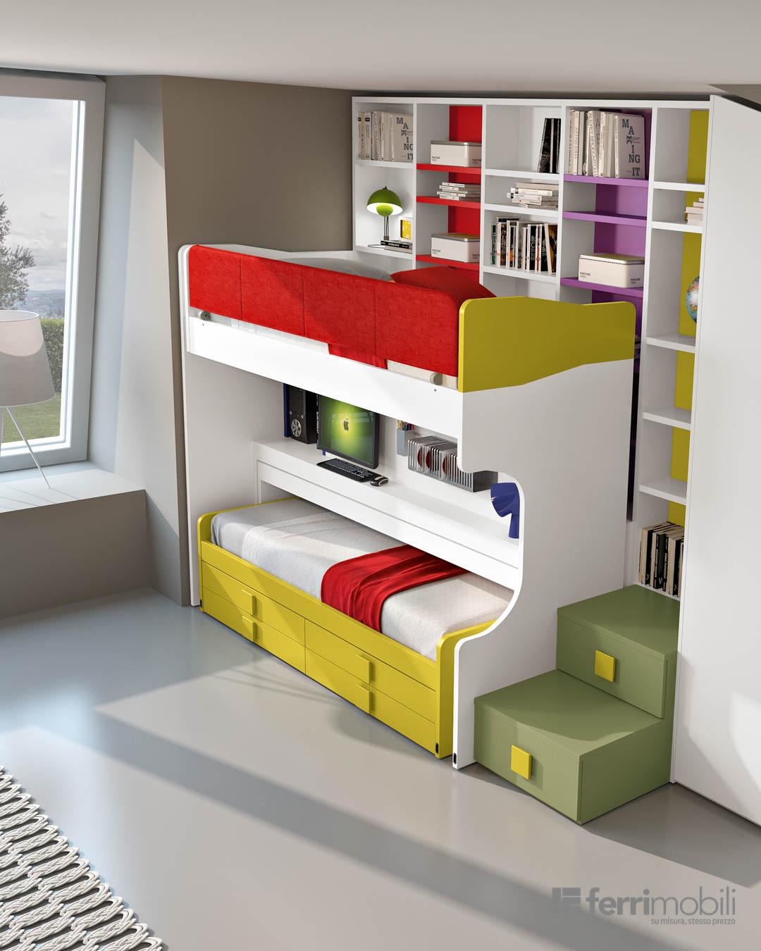 Ponti letti a castello soppalchi soluzioni salvaspazio per camerette di ogni dimensione - Castelli mobili ...