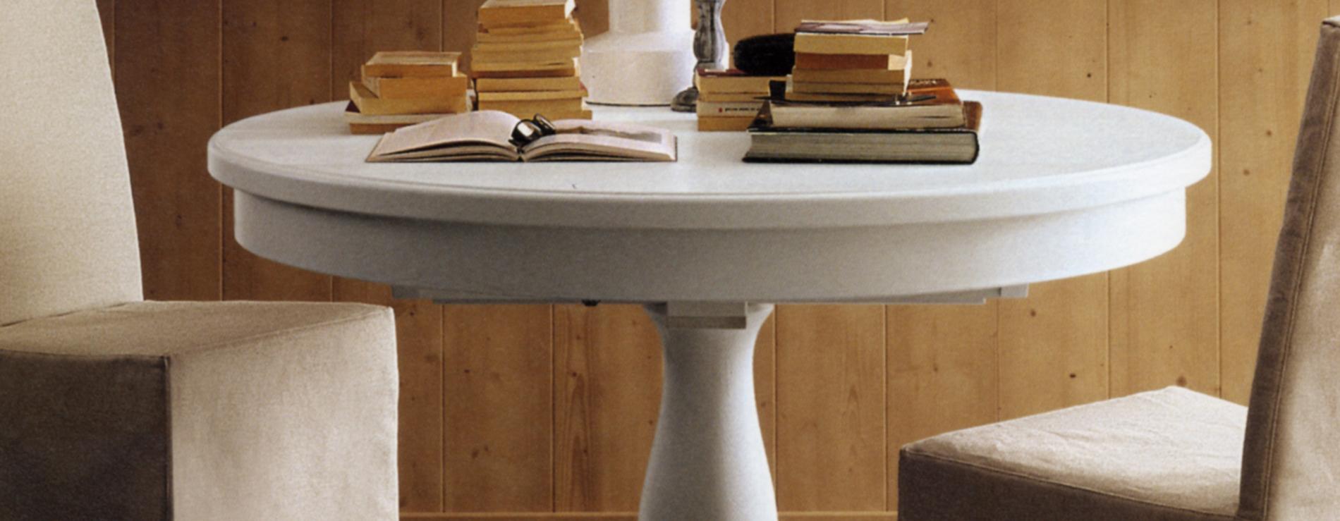 Tavolo rotondo allungabile scandola centro mobili for Tavolo allungabile rotondo