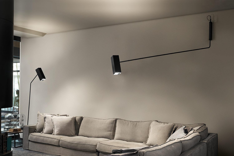 Lampada da muro con braccio flessibile lampada da parete con