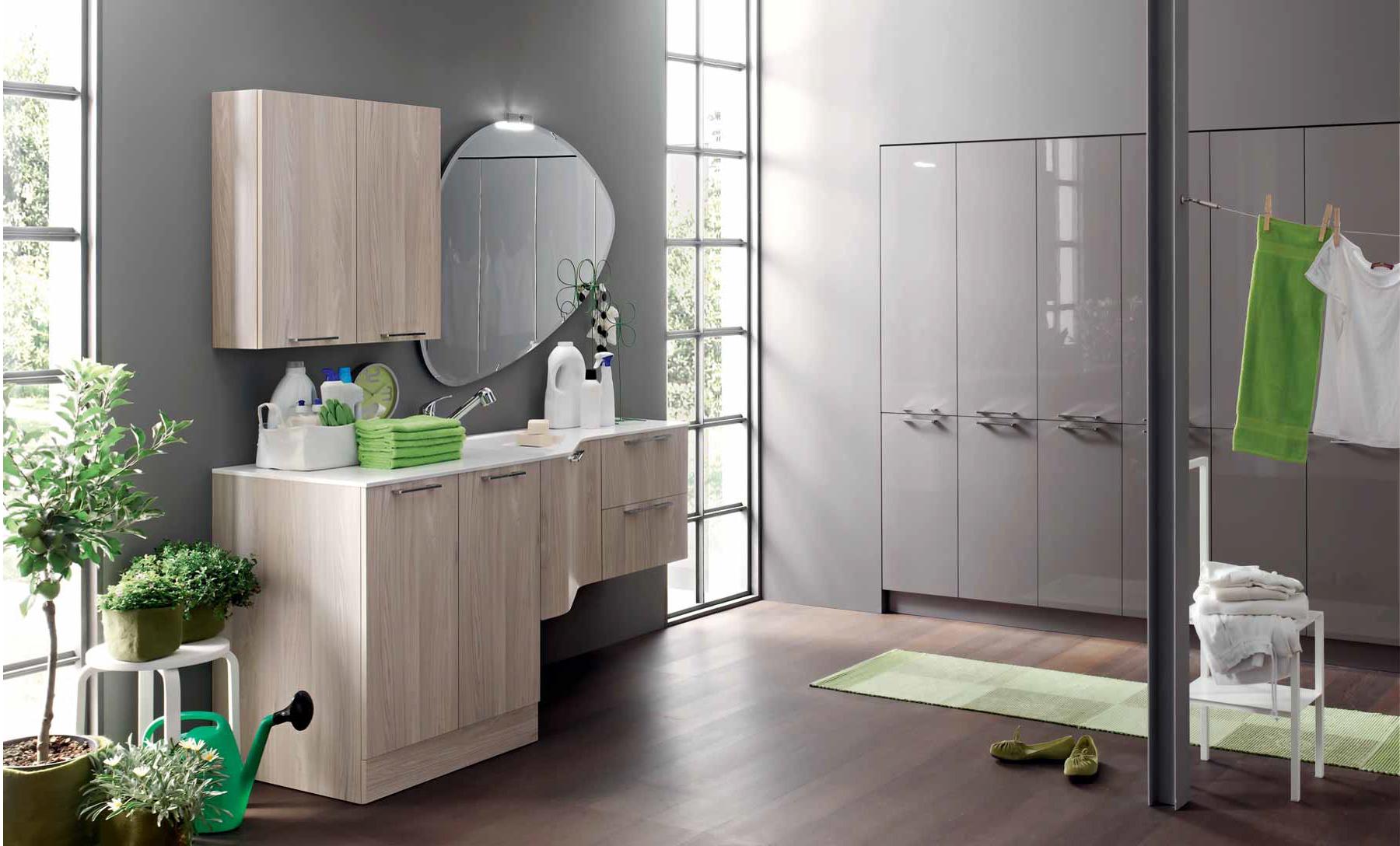 Mobili per la lavanderia arredo lavanderia centro - Mobili bagno con lavatrice a scomparsa ...