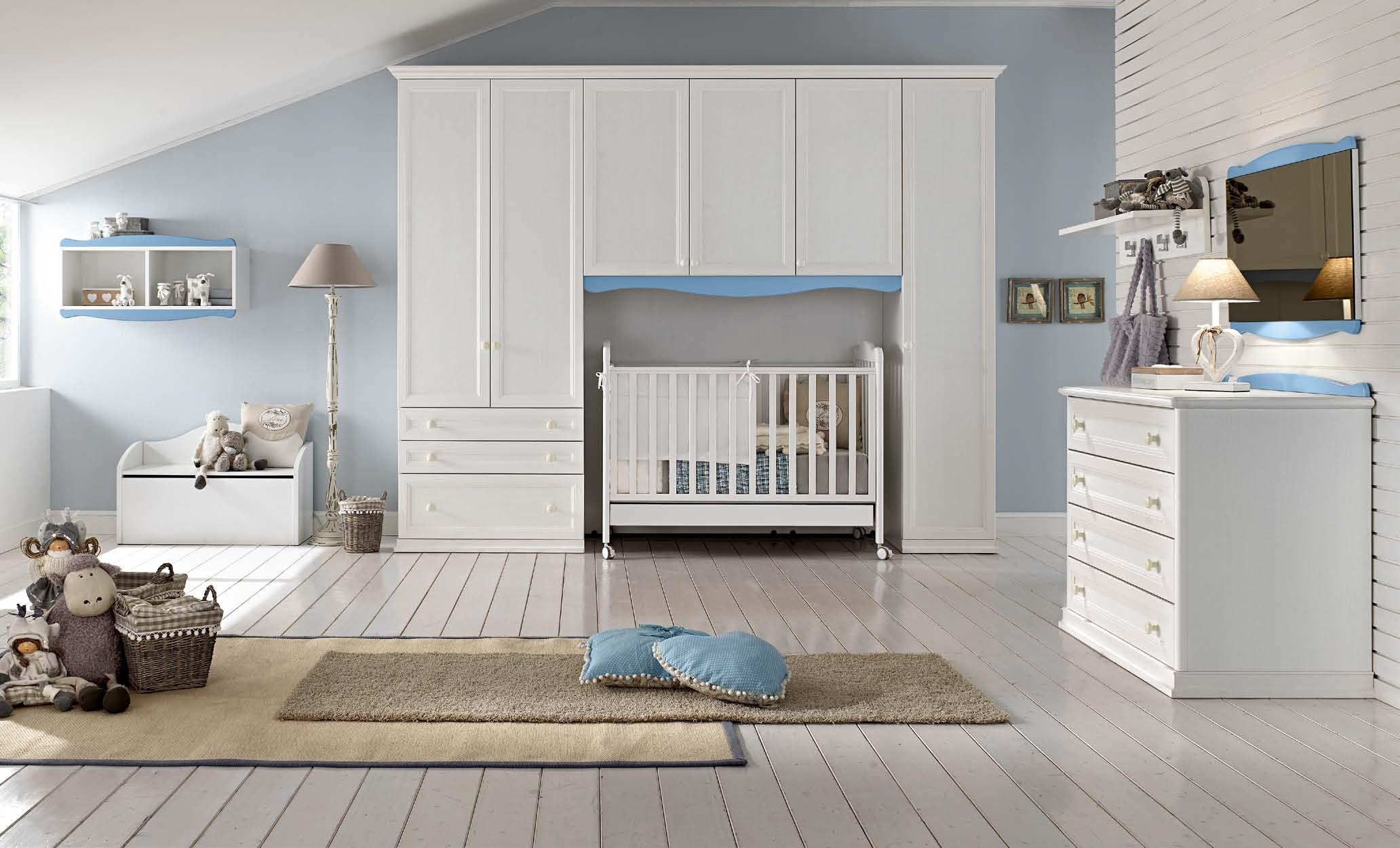 Cameretta per neonato culla fasciatoio centro mobili - Colore cameretta neonato ...