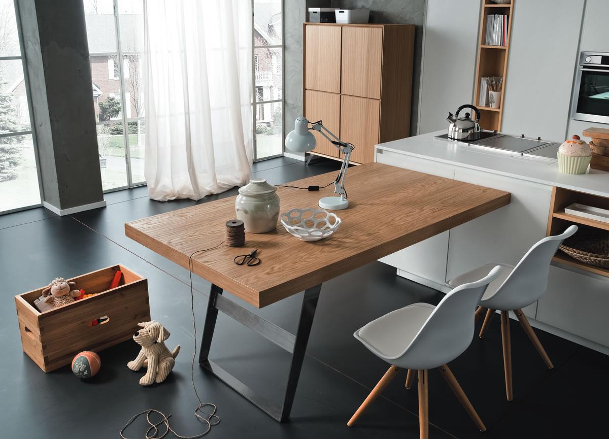 Tavolo penisola altacorte centro mobili - Penisola con tavolo ...