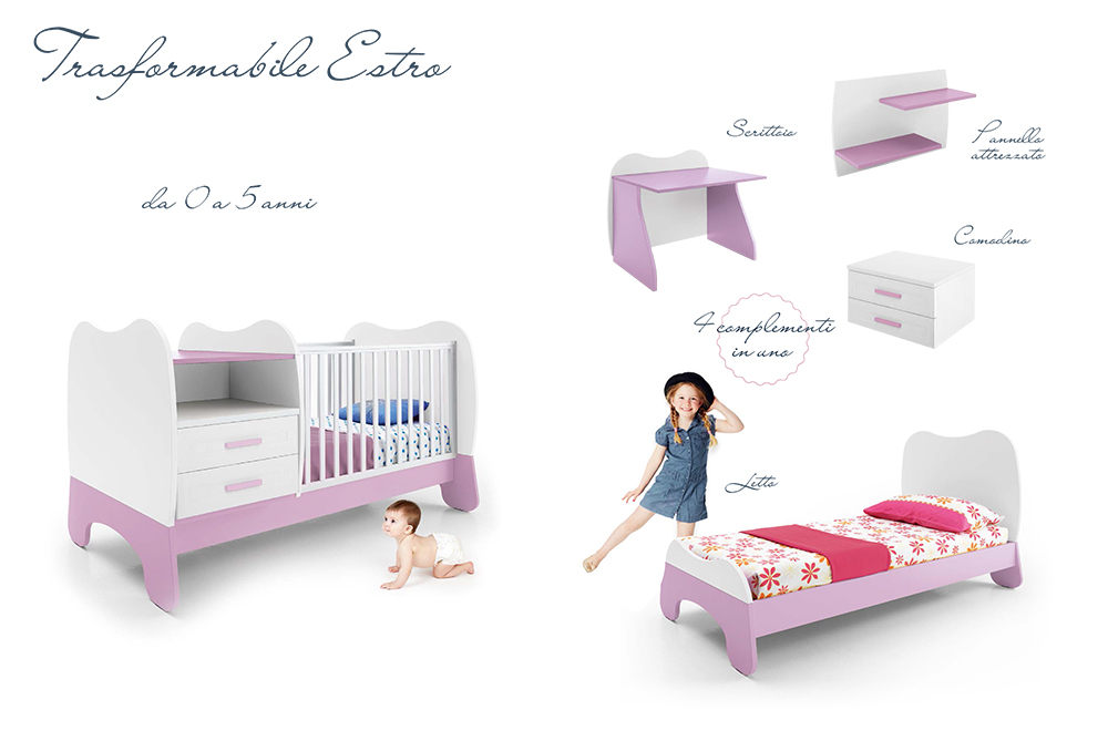 Camerette Per Neonati Rosa : Culle e fasciatoi per la cameretta del vostro bambino centro mobili