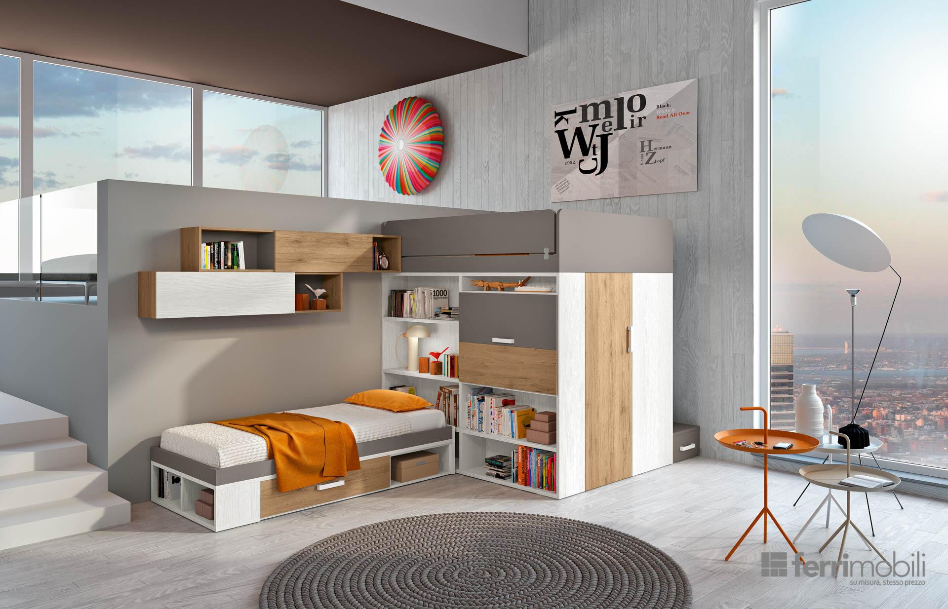 Composizione 906 ferri mobili centro mobili godiasco - Castelli mobili ...