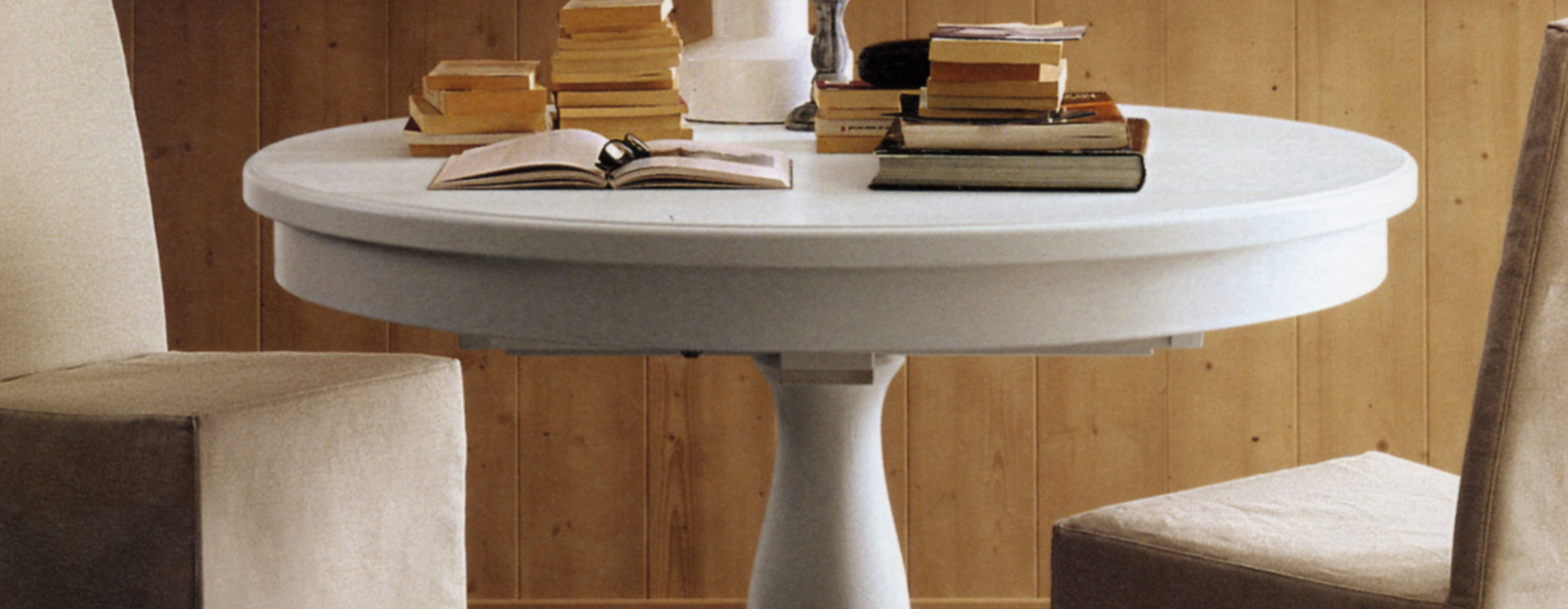 Tavolo rotondo allungabile scandola centro mobili - Tavolo rotondo allungabile bianco ...