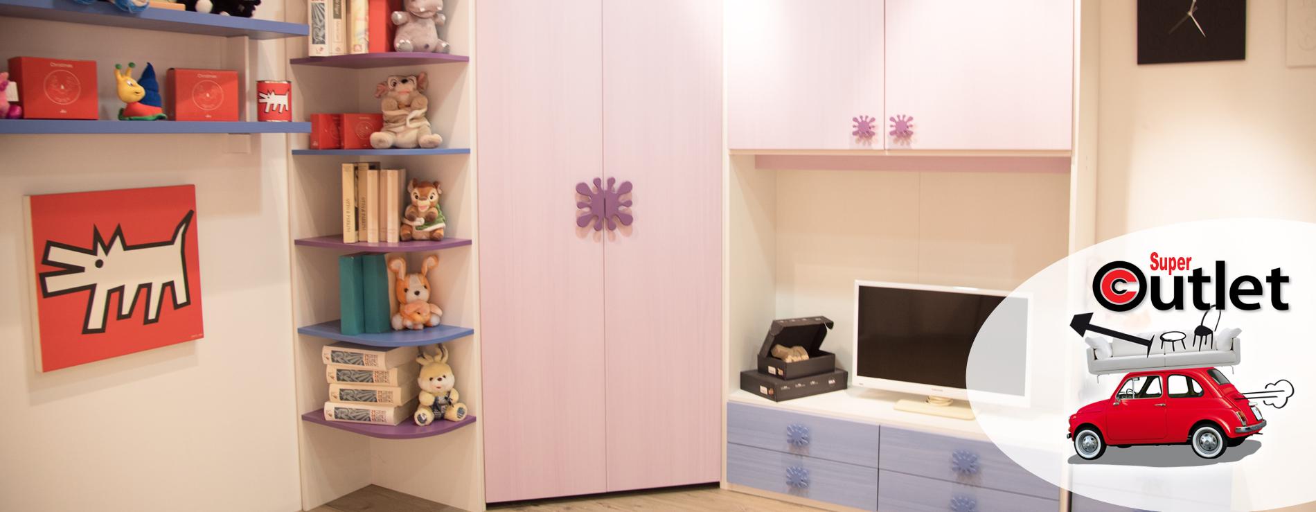 Cameretta azzurra in promozione centro mobili outlet for Centro italiano mobili