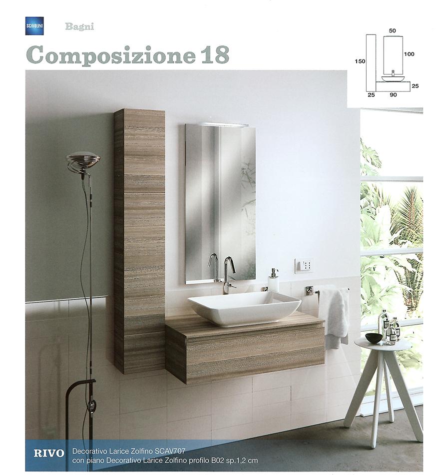 Bagni monoblocco scavolini scavolini per piccolo bagno for Piccoli mobili da bagno