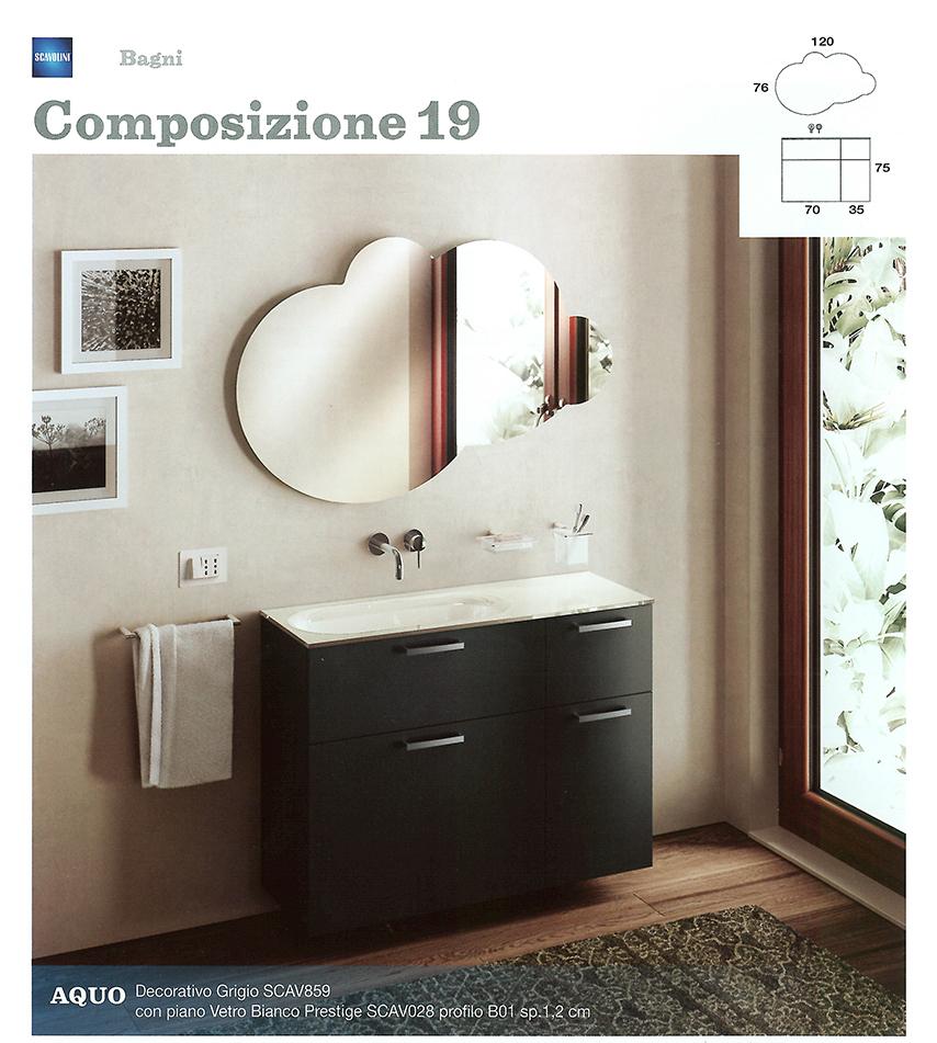 Bagni monoblocco Scavolini | Scavolini per piccolo bagno | Centro Mobili