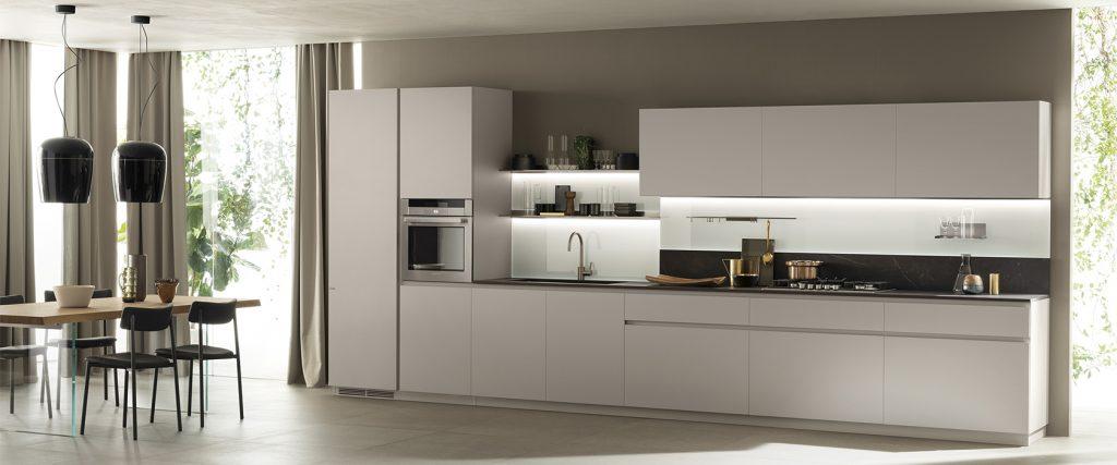 Cucina lineare bianca Scavolini