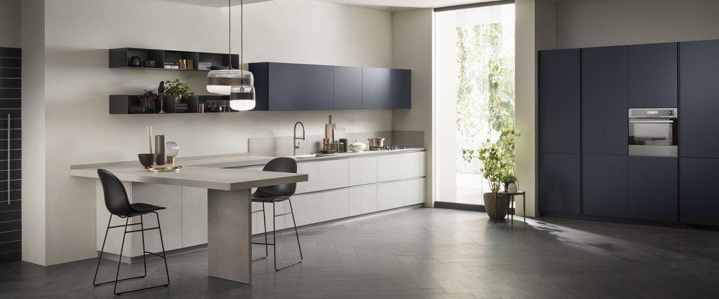 Cucina lineare blu Scavolini