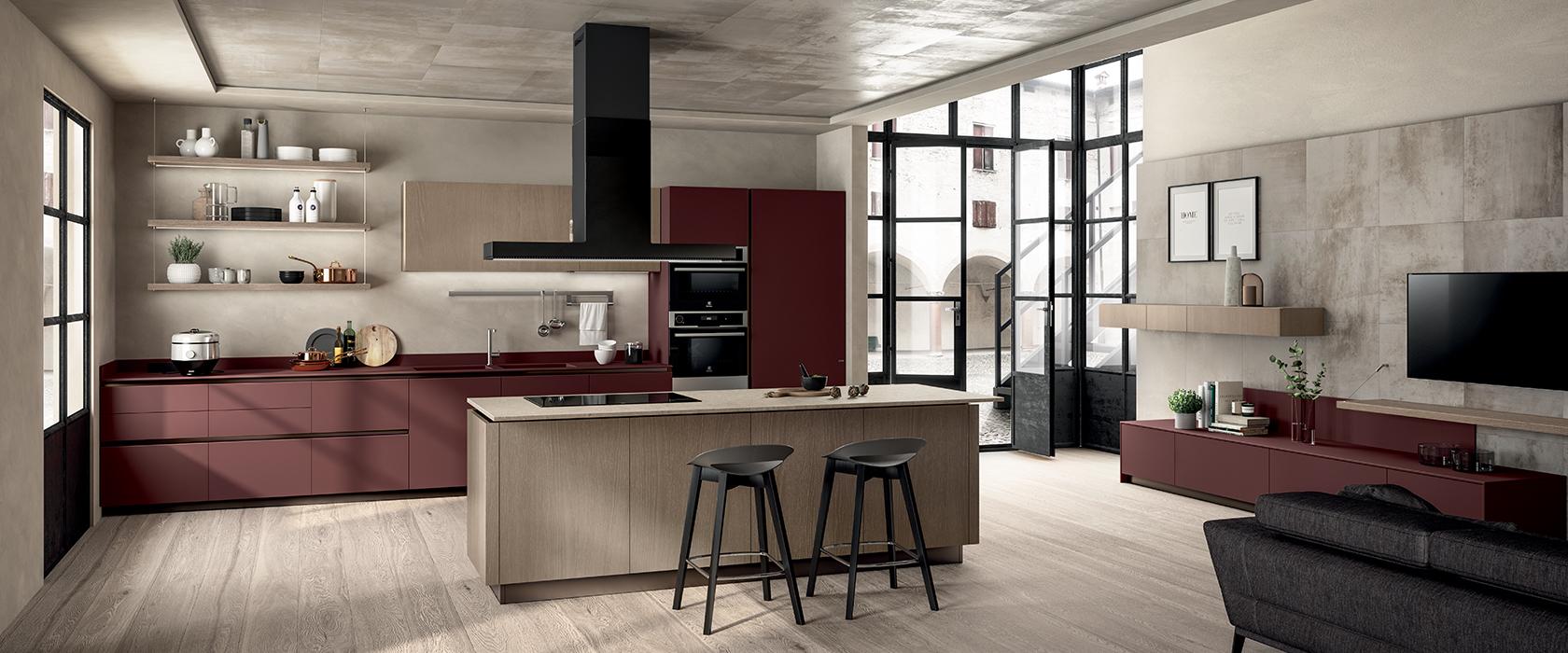 cucina-scavolini-rossa - Centro Mobili