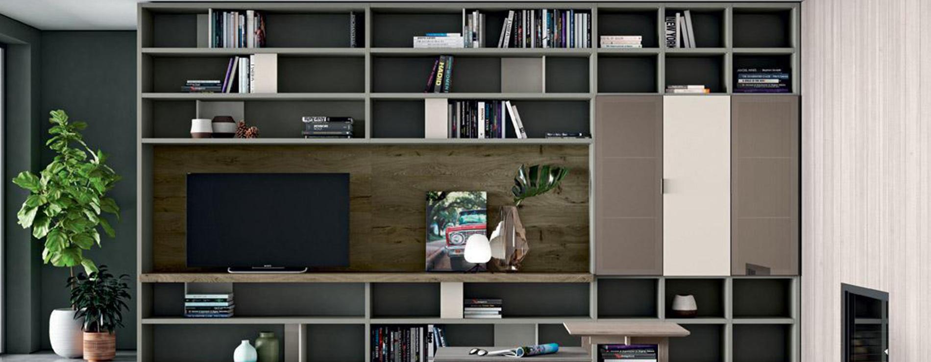 libreria parete mobilgam