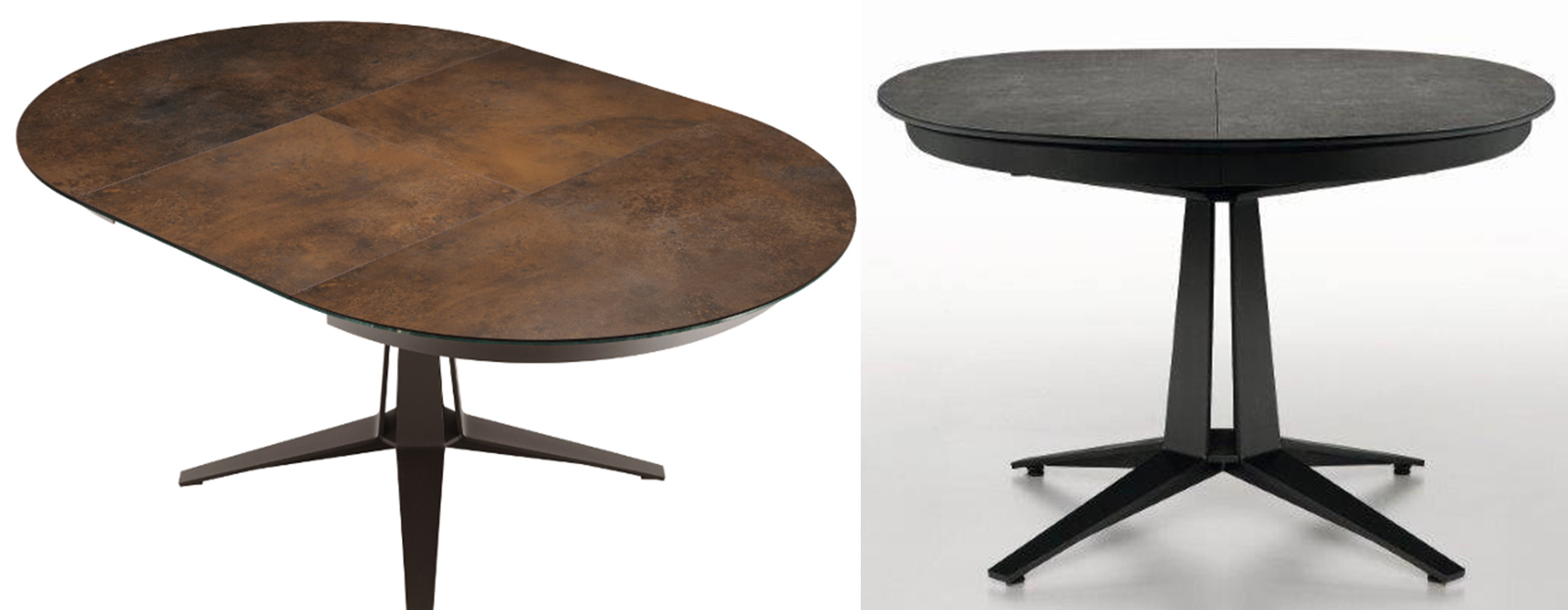 tavolo rotondo allungabile Link di Midj