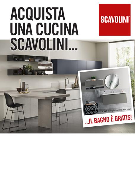 Promozione Scavolini 2019 - Bagno Scavolini Gratis acquistando una Cucina di almeno 7000 €
