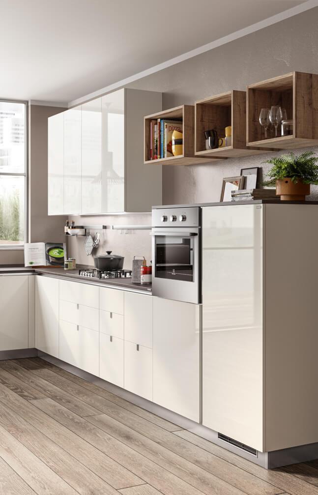 Cucina laccato lucido bianco Urban Scavolini