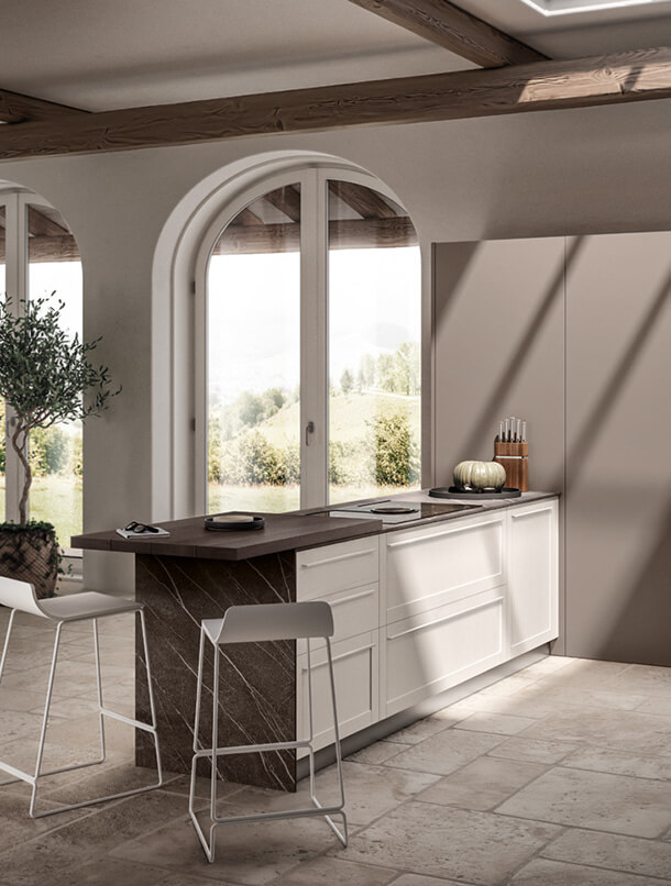 Cucina openspace Scavolini Carattere