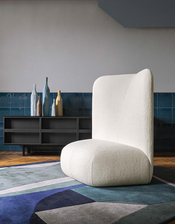 Poltrona comoda moderna schienale alto