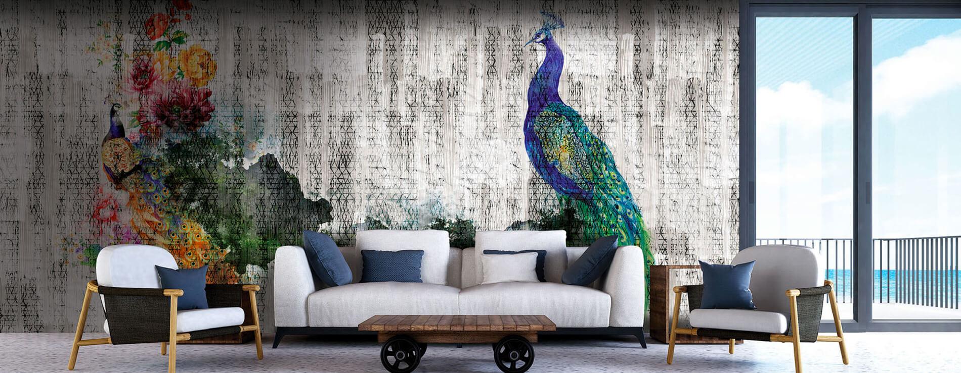 Carta da Parati Peacock di InstableLab