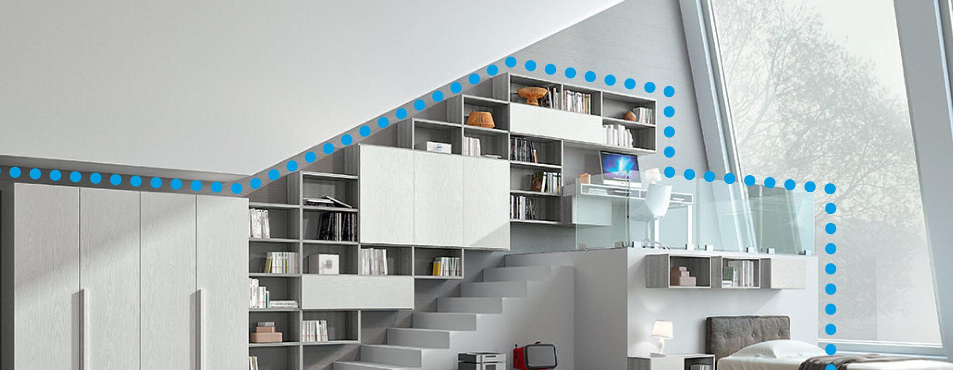 Libreria su misura Ferri mobili