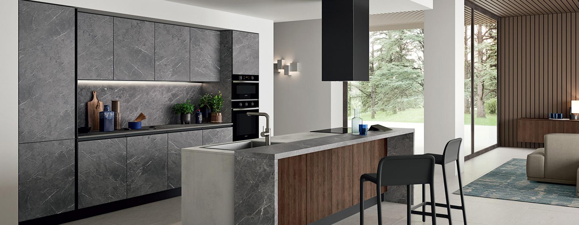 Cucina effetto marmo | AR-DUE